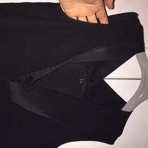 Banana Republic black tunic with satin trim